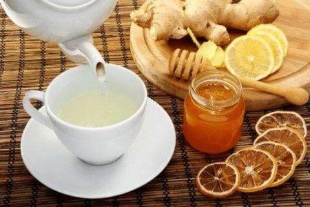 чашка с чаем мед лимон имбирь