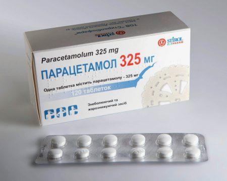Коробка и блистер препарата парацетамол от компании Stirol