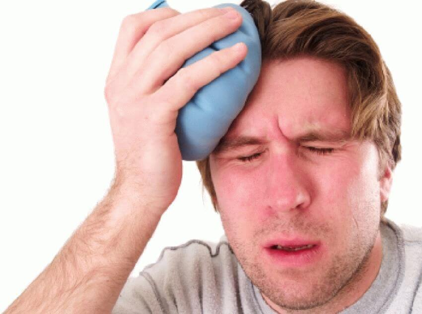 после головной боли онемел лоб