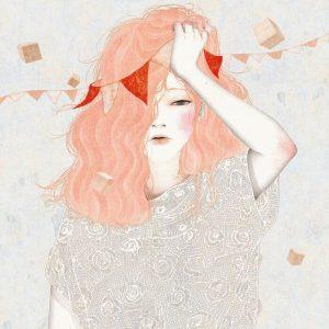 рисунок женщины с головной болью