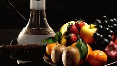 тарелка с фруктами и кальян