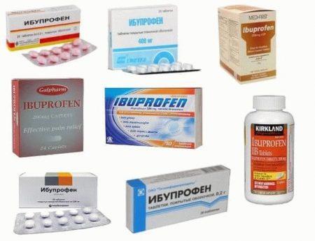 ибупрофен в разных упаковках