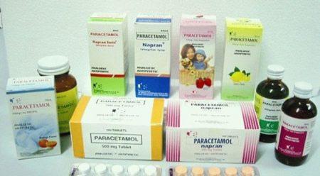 разнообразные у паковки парацетамола
