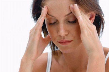 Головная боль у женщины при ВЧД